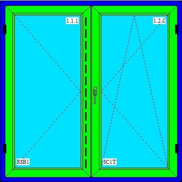 dvojkrídlové okna
