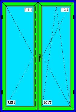 dvojkrídlové balkónové dvere O+OS FS