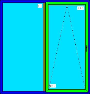 dvojkrídlové posuvné dvere 2100x2200